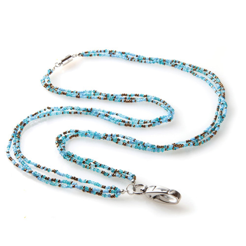 Seaglass Beaded Lanyard