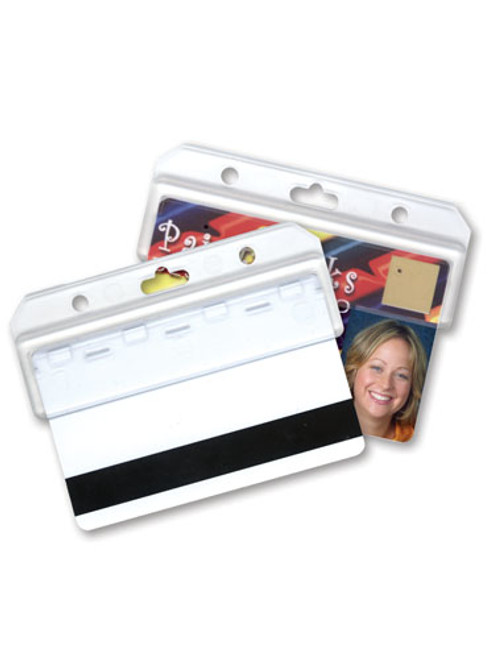 Swiper ID card holder for identification badges