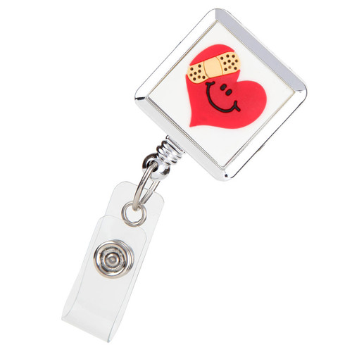 Mended Heart Fashion ID Badge Reel