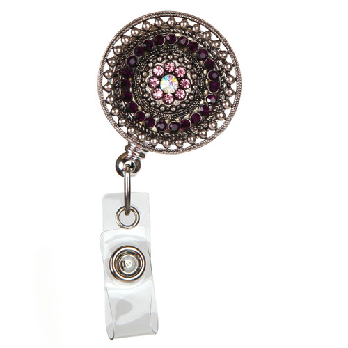 Razzle Dazzle - Purple Fashion ID Badge Reel
