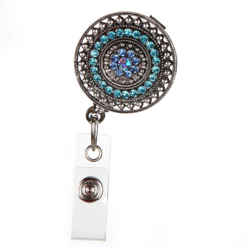 Razzle Dazzle - Teal Fashion ID Badge Reel