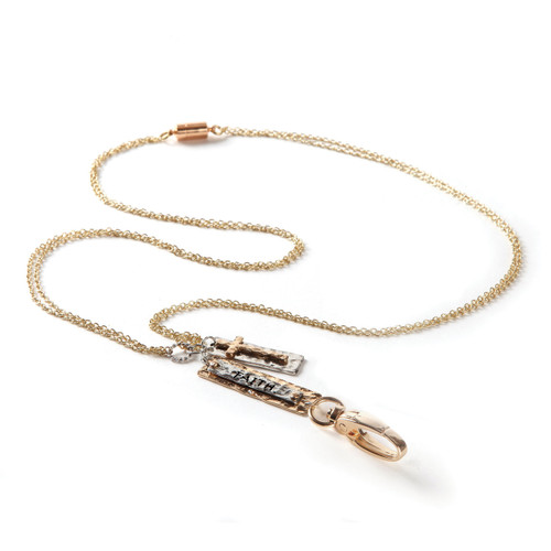 Faith Gold Chain Fashion ID Lanyard