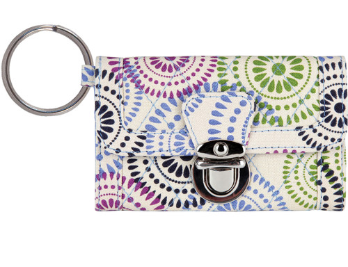 Citrus Patterned Tri-Fold Quilted Clutch Wallet