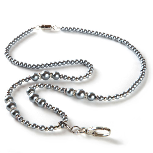 Brooke Silver Fashion Beaded Lanyard for Women