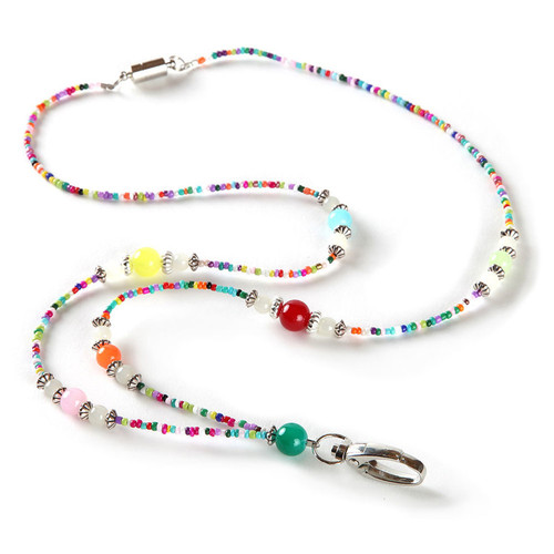 Festival Colorful Beaded Lanyard