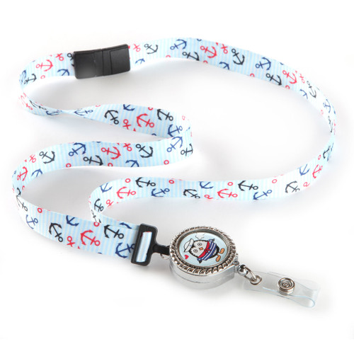 Sailor Anchor Patterened Ribbon Lanyard