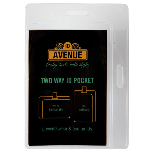 Two Way Display ID Pocket
