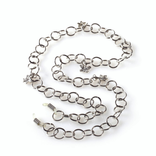 Poppy Silver Chain Eyeglass Leash