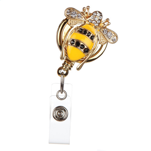 "BooJee Beads ""Queen Bee"" Bumblebee Fashion ID Badge Reel"