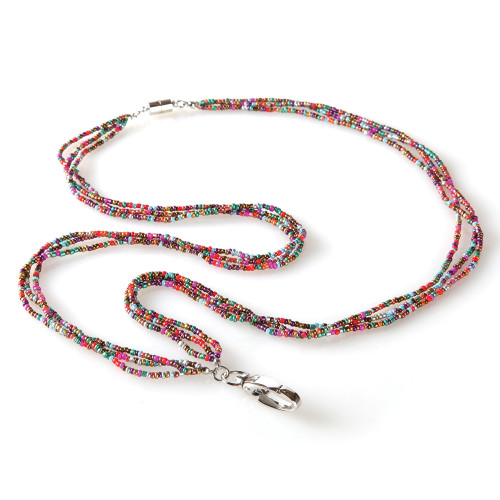 Vivian Multi Colored Fashion Beaded Lanyard