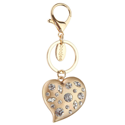 Dresden Heart Gold Keychain