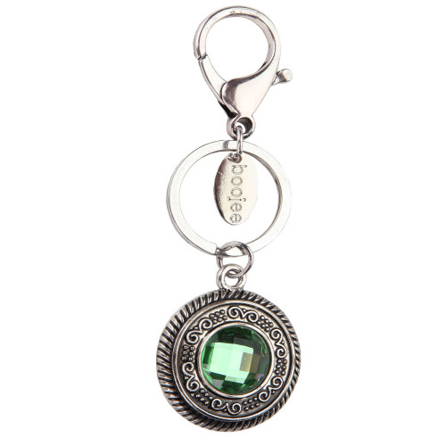 Vintage Round Gemstone Keychain