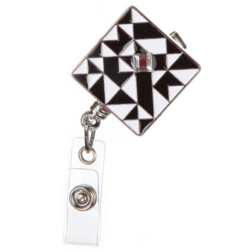 Truman Black and White Geometric Badge Reel