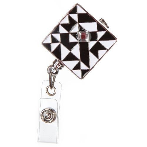 Truman Black and White Geometric Badge Reel