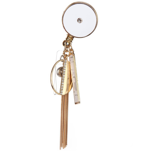 Tosca Badge Reel with embellishments