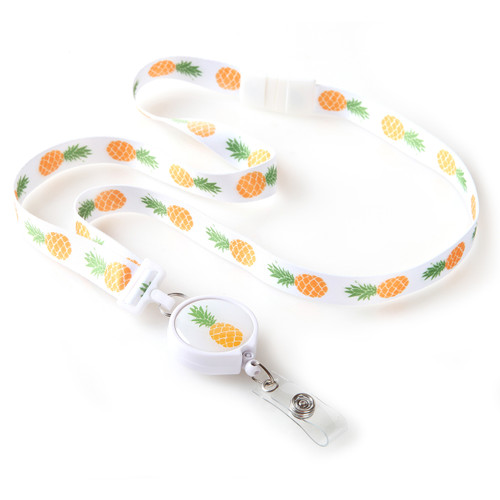 Pineapple Pattern Ribbon Lanyard