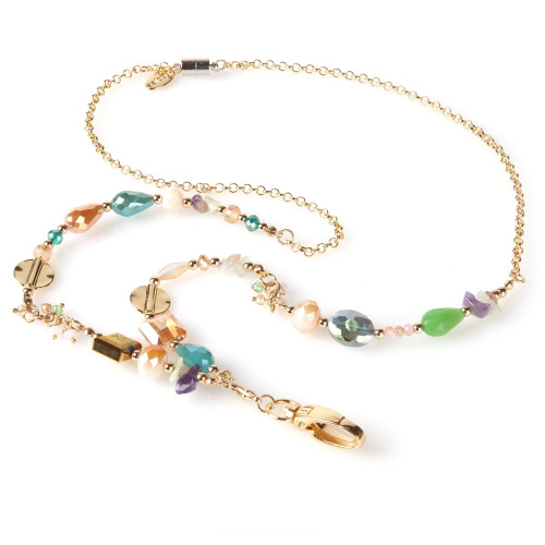 Pastel Party Chain and Bead Fashion Lanyard