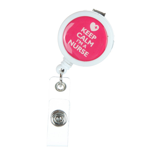 Keep Calm I'm a Nurse ID Badge Reel