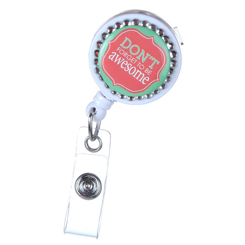 Don/'t Make Me Use My Teacher Voice Funny Heart Lanyard Reel Badge ID Card Holder