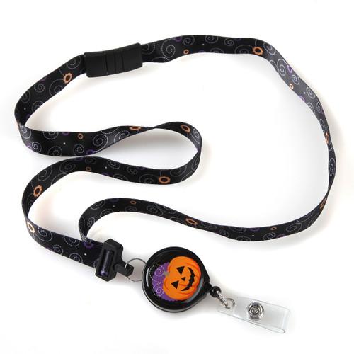 Boo Halloween Jack O Lantern Ribbon Lanyard