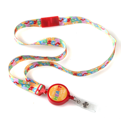 Alphabet Heart Ribbon Lanyard for Teachers