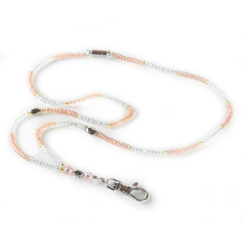 Simply Pink Beaded Lanyard