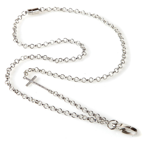 Pave Cross Chain Fashion Lanyard