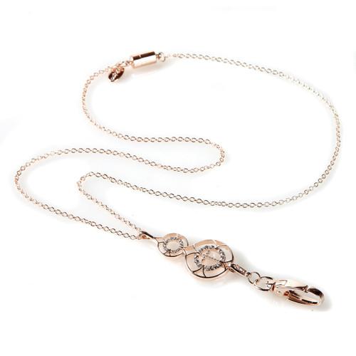 Portia gold cross fashion chain lanyard