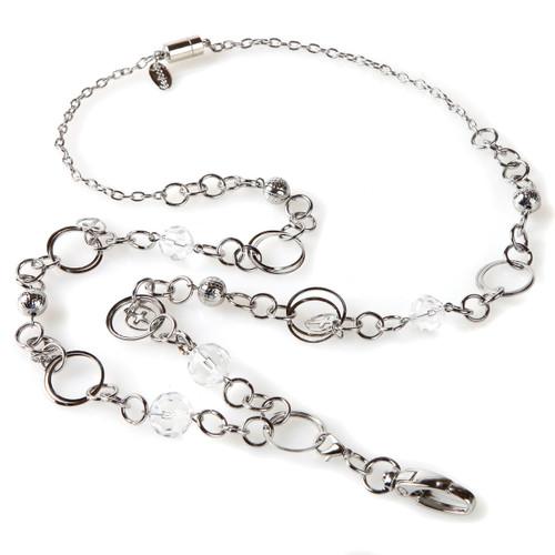 London Silver Cross Chain Necklace Lanyard