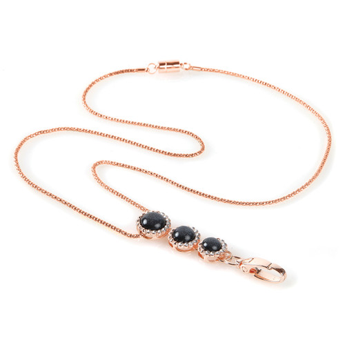 Kiawah Gold chain lanyard with embellishments