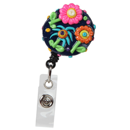Blue Sky Floral Badge Reel