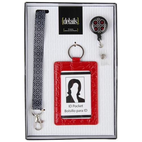 3 Piece Moray Lanyard, Badge Reel and ID Pocket Gift Set