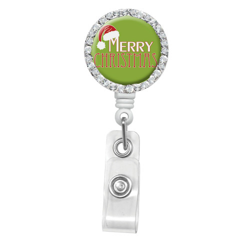 Merry Christmas ID Badge Reel