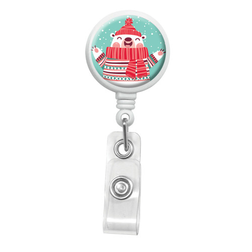 Holiday Bear Badge Reel