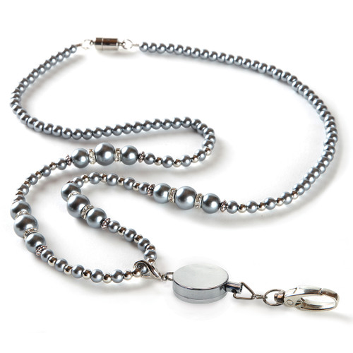 Brooke Beaded Fashion Lanyard with Detachable Reel