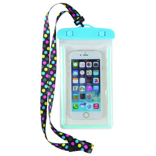 Aqua Dot Waterproof Cell Phone Case Lanyard