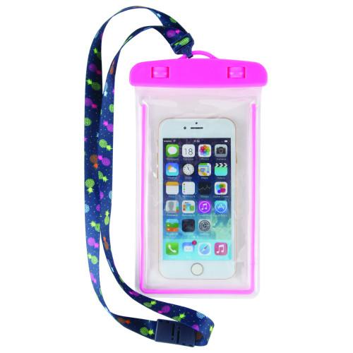 Juicy Pineapple Waterproof Phone Case Lanyard