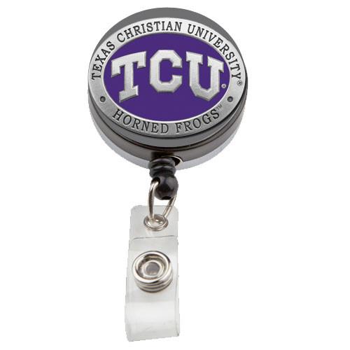 Texas Christian University Horned Frogs Badge Reel
