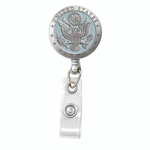 United States Army Crest Badge Reel - Blue