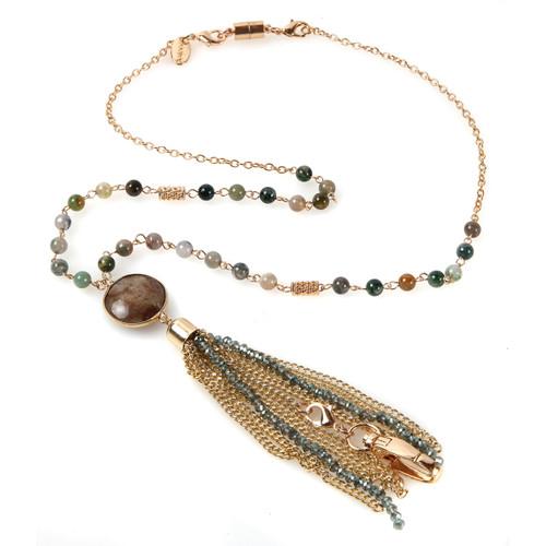 Zara Gold Fashion Lanyard with chain tassel