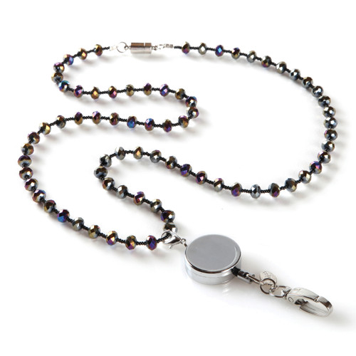 Lizzie Beaded Fashion Lanyard with Detachable Reel