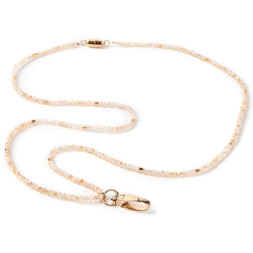 Bridgette Beaded Lanyard with Gold Accent Beads