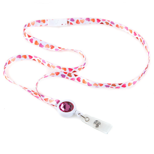 Sweet Hearts Skinny Ribbon Lanyard