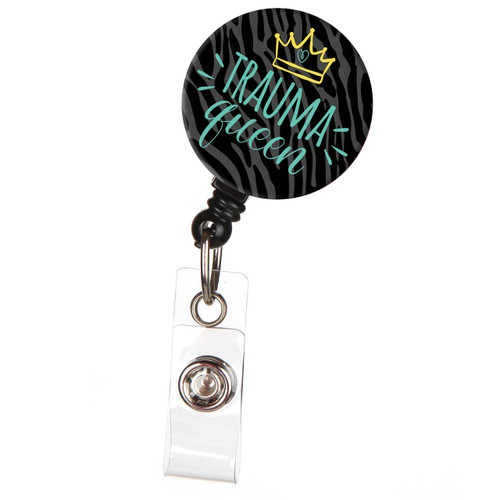 Trauma Queen ID Badge Reel in Black
