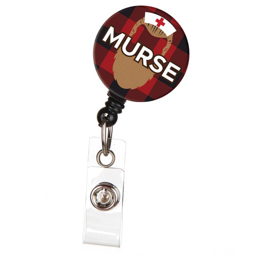 Murse Male Nurse ID Badge Reel