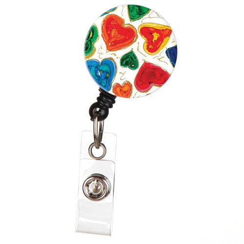 From the Heart Retractable Lovitude ID Badge Reel