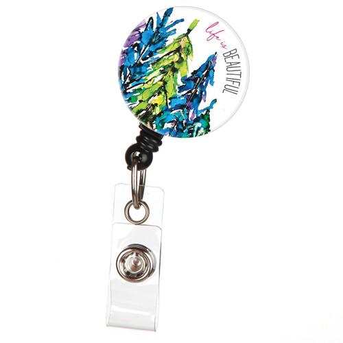 Life is Beautiful Lovitude Retractable ID Badge Reel