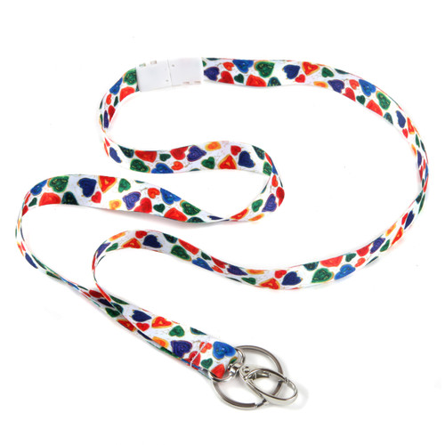 From the Heart Ribbon Lanyard with Hook, Keyring and Breakaway Clasp