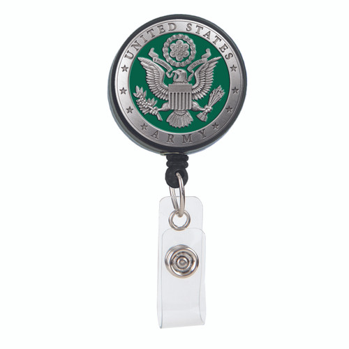 US Army Crest Badge Reel in Green