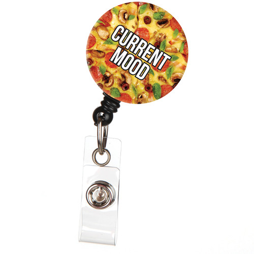 Current Mood Pizza Food ID Badge Reel